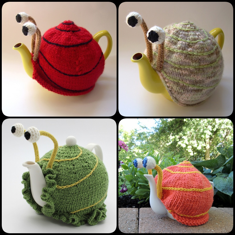Knitting Snail Tea Cosy With Pattern Cool Creativities