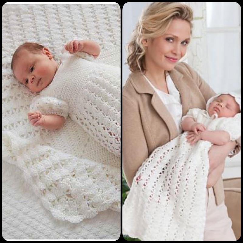 Princess Charlottes Christening Crochet Dress With Free Pattern