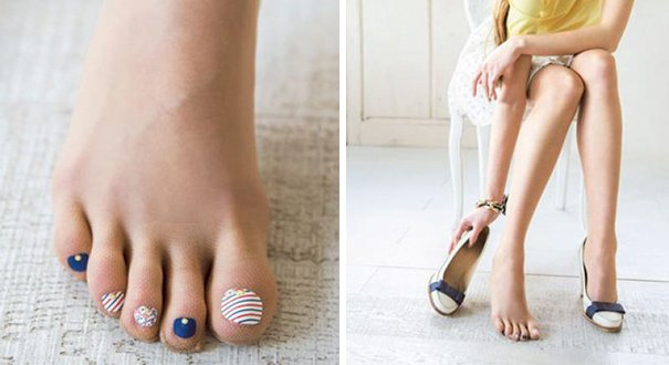 Cool Stockings Come with Pre-painted Toe Polish