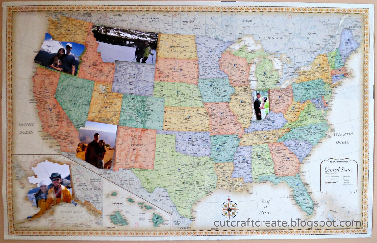 DIY Personalized Photo Map