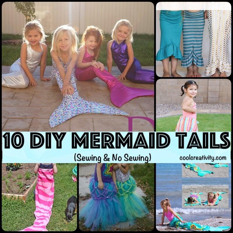 10 DIY Mermaid Tails (Sewing & No Sewing)