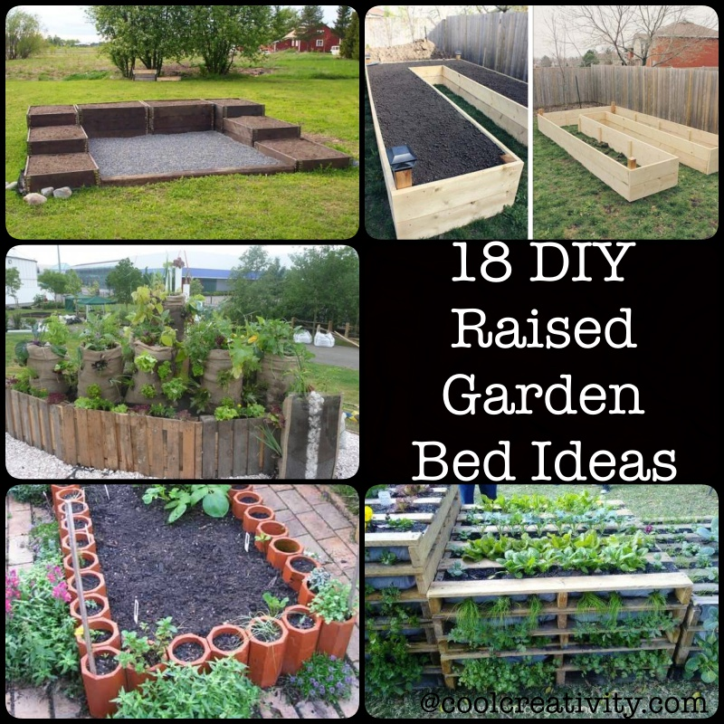 18 diy raised garden bed ideas for Garden bed ideas