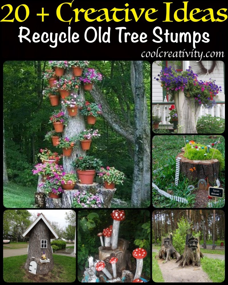 20 + Creative Ideas to Recycle Old Tree Stumps