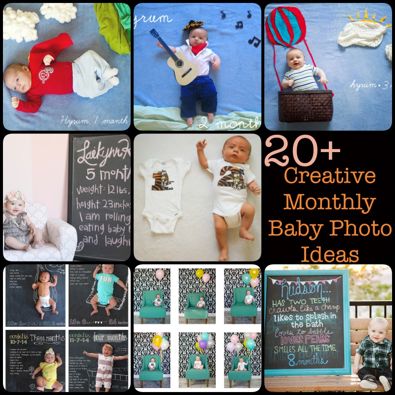 20+ Creative Monthly Baby Photo Ideas