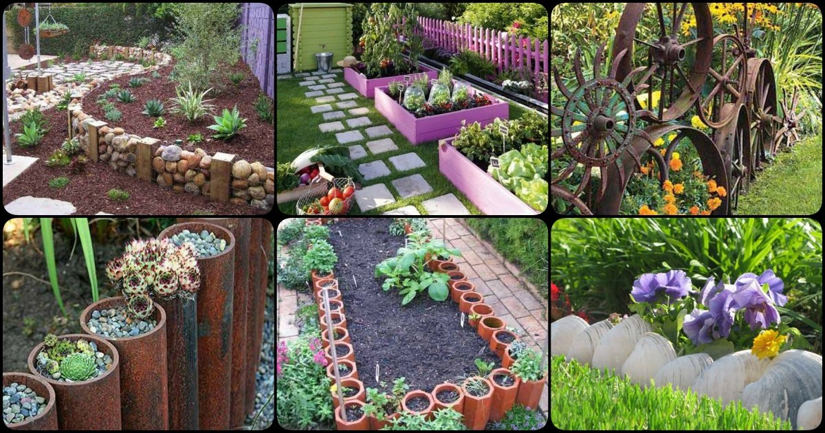 30 diy garden bed edging ideas page 3 of 3 for Diy garden borders