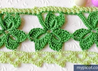 Crochet Trefoil Lace edging
