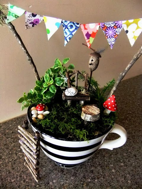 14 Cute Teacup Mini Gardens Ideas Page 3 Of 3