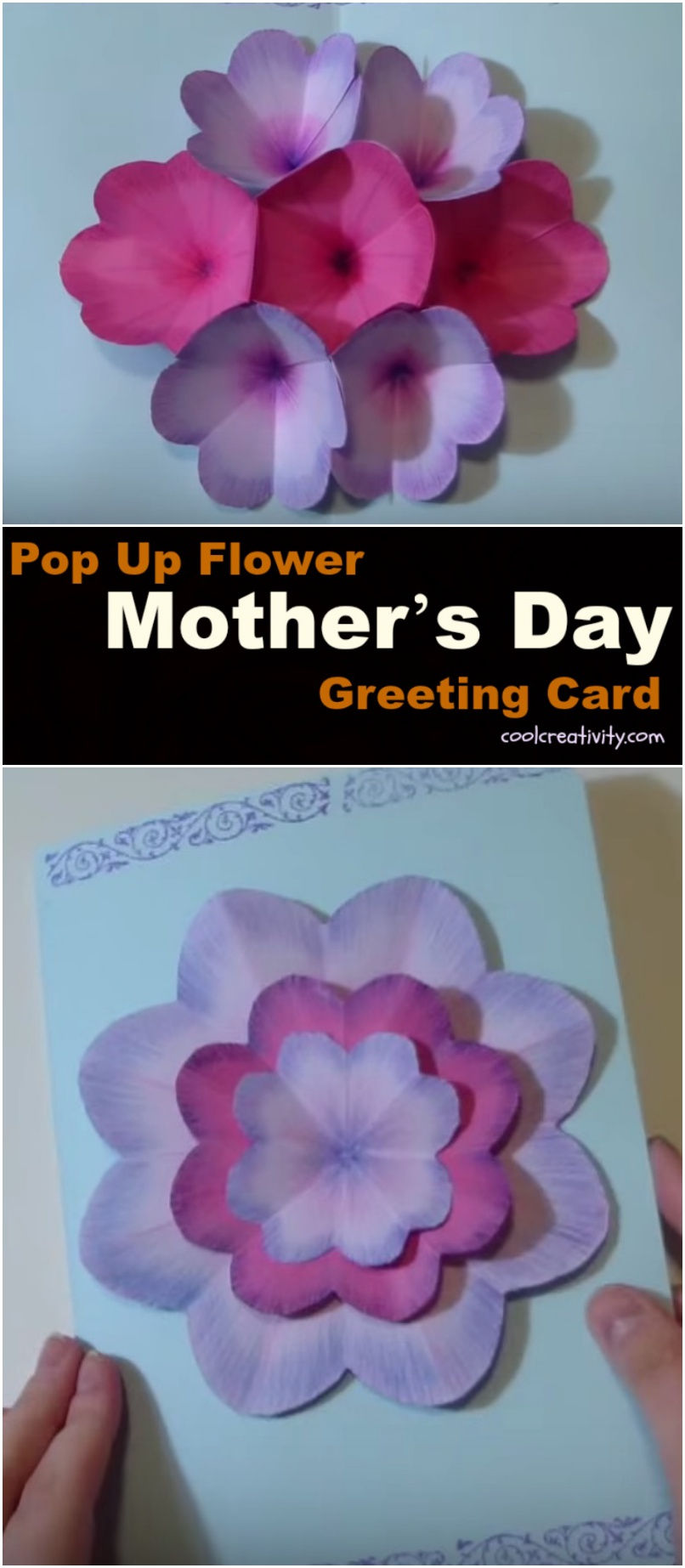 Creative DIY Mother's Day Pop Up Flower Card