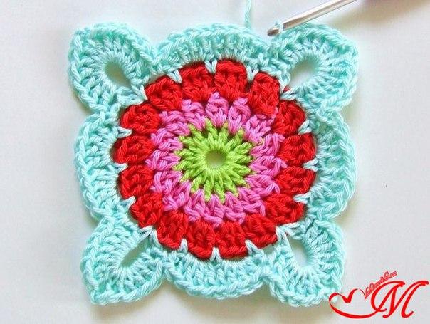 How to Crochet Pretty Granny Square Blanket