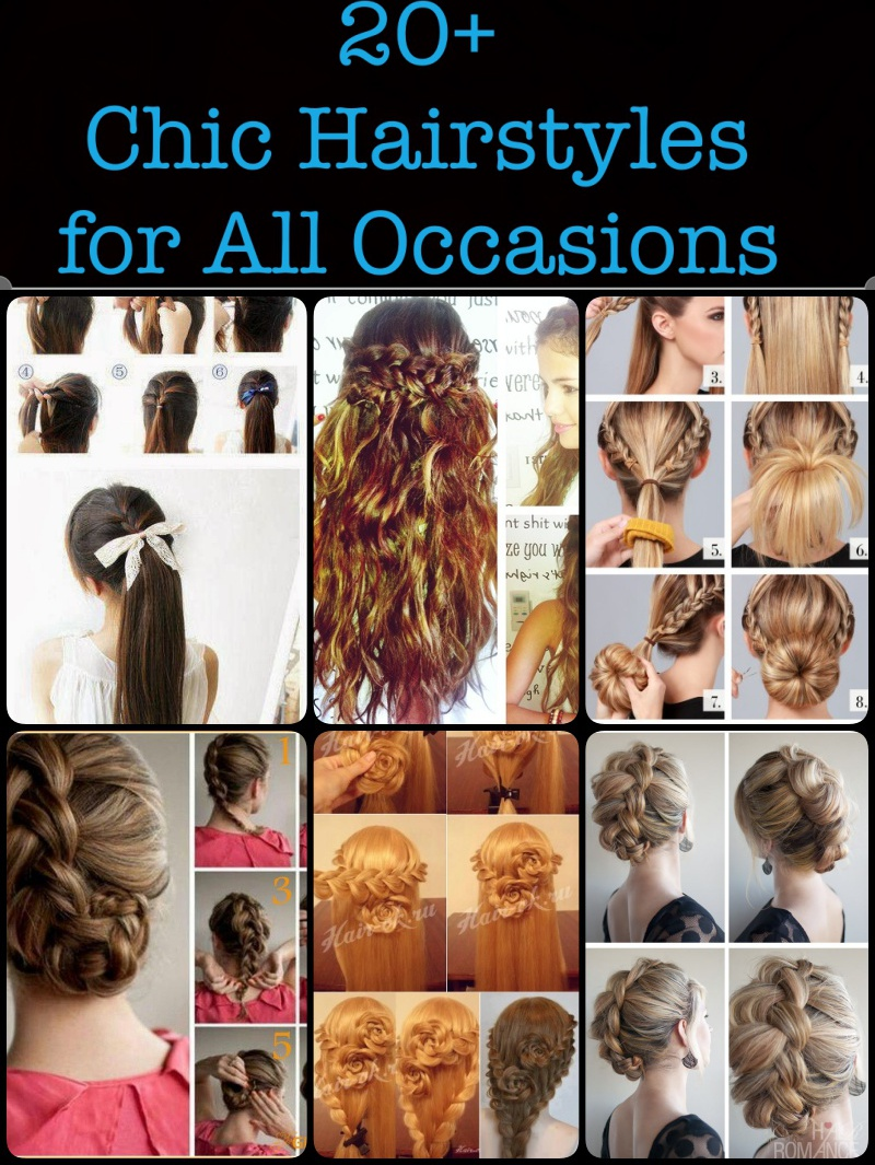 A Collection of 20 + Chic Hairstyles for All Occasions
