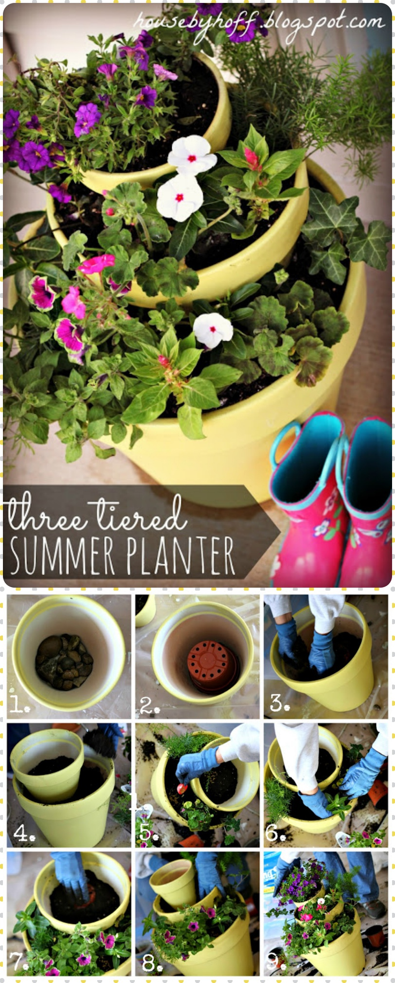 A Three Tiered Summer Planter
