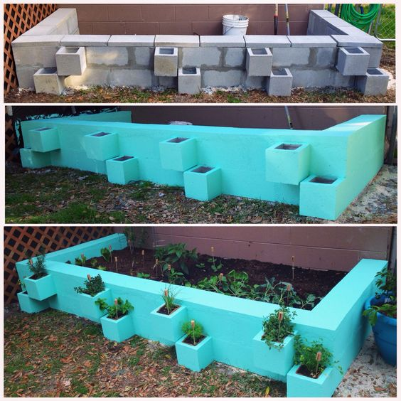 40 cool ways to use cinder blocks page 4 of 6 for Cinder block pond ideas