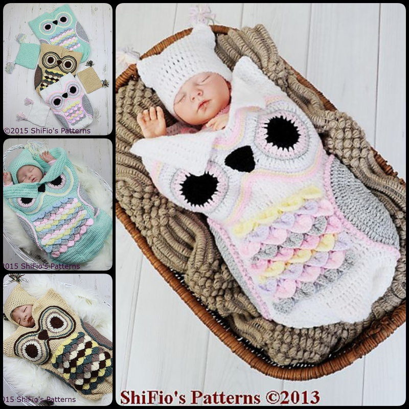 Crochet Cute Baby Owl Cocoon with Pattern - Page 2 of 2