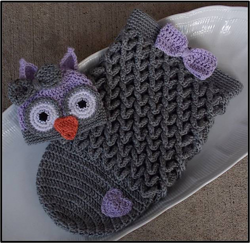 Crochet Cute Baby Owl Cocoon With Pattern Page 2 Of 2