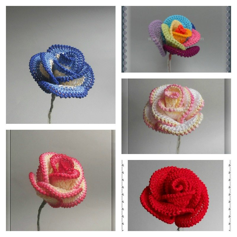 how to crochet pretty roses   page 2 of 2