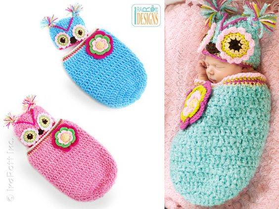 Crochet Cute Baby Owl Cocoon with Pattern