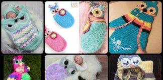 Crochet Cute Baby Owl Cocoon