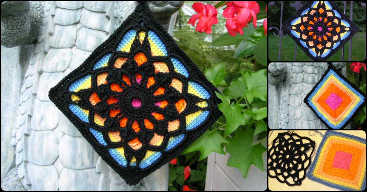 Crochet Fantastic Square Afghan Block With Free Pattern Cool
