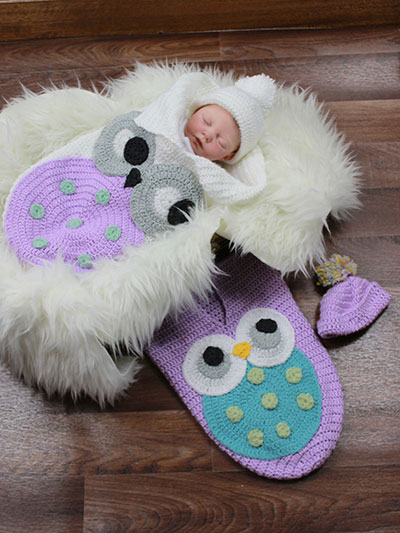 Crochet Cute Baby Owl Cocoon with Pattern - Page 2 of 2 -