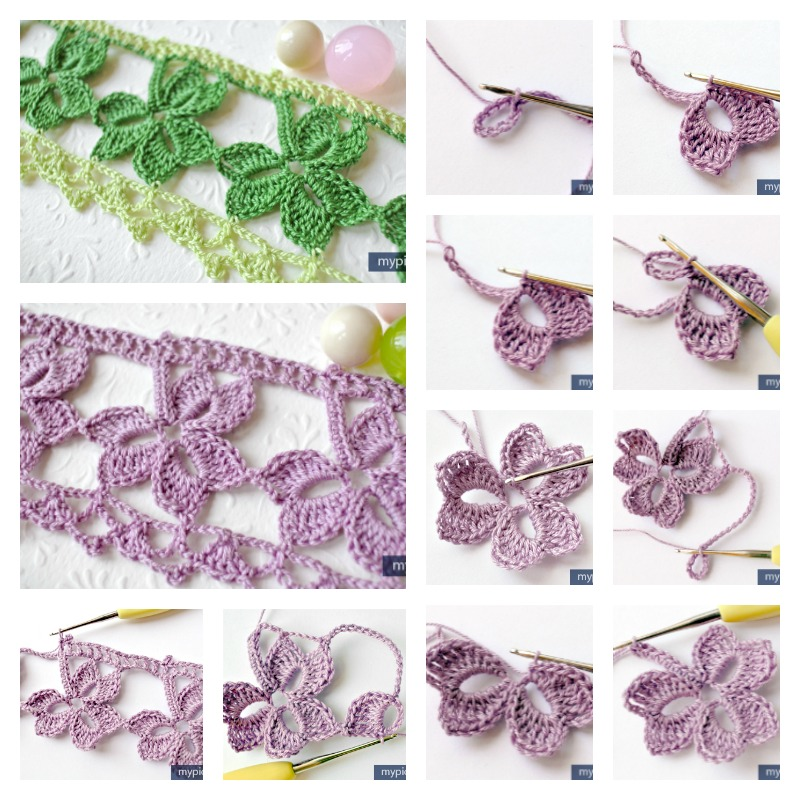 Crochet Lace Pattern For Edging : Crochet Trefoil Lace edging with Free Pattern - Cool ...