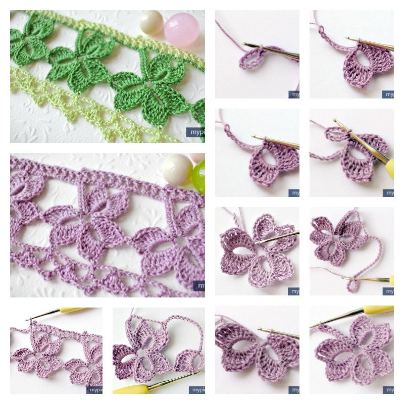 Crochet Trefoil Lace edging with Free Pattern - Cool ...