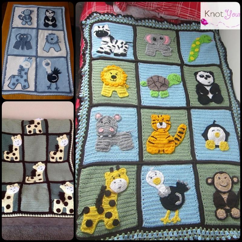 Crochet Zoo Blanket Base With Free Pattern