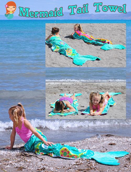 DIY Beach Towel Mermaid Tails