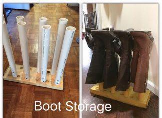 PVC Pipes Shoes Storage