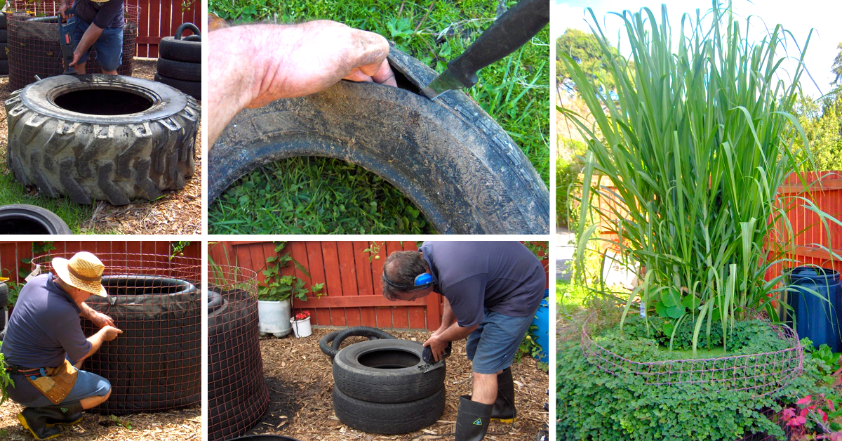 Diy decorative fish pond from old car tires for Decorative pond fish
