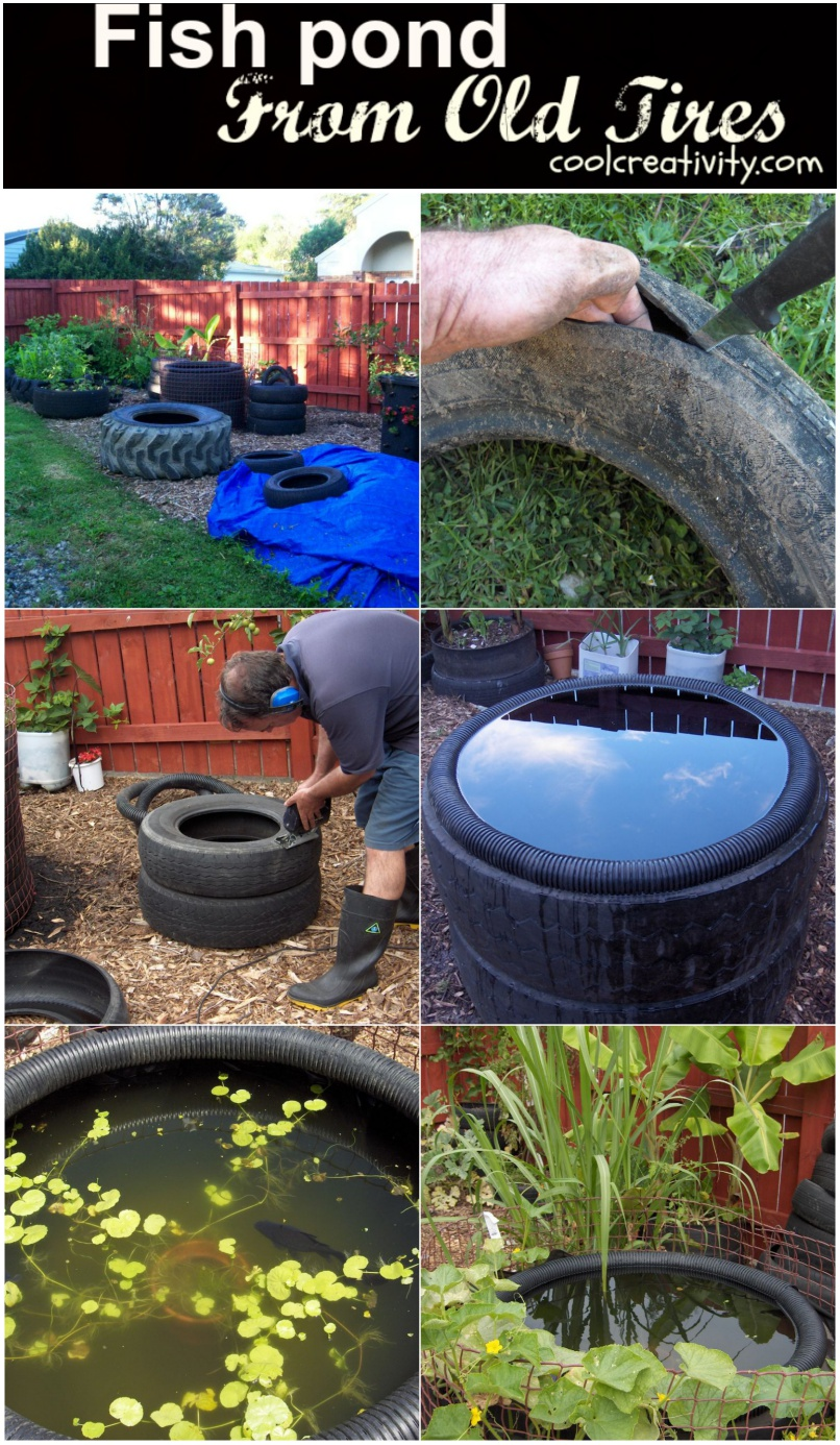 What S Wrong With My Garden Pond Water: DIY Decorative Fish Pond From Old Car Tires