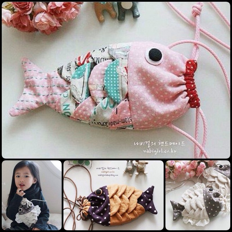 DIY Fabric Fishy Purse with Free Template