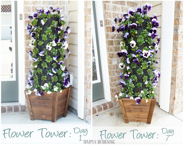 DIY Flower Tower Simply Designing