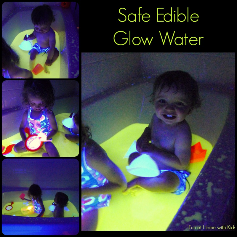 DIY Fun, Safe and Edible Glow Water for Baths and Play