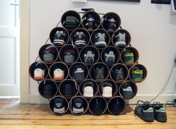 Diy Shoes Storage Out Of Pvc Pipes