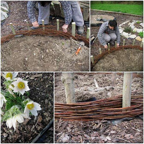 DIY Willow Woven Raised Bed