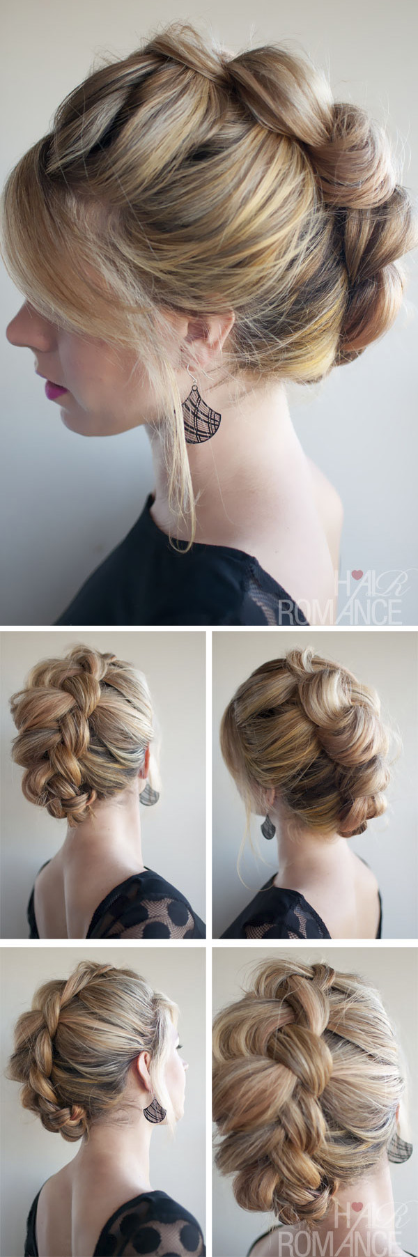 A Collection of 20 + Chic Hairstyles for All Occasions --Elegant Braid Hawk hairstyle