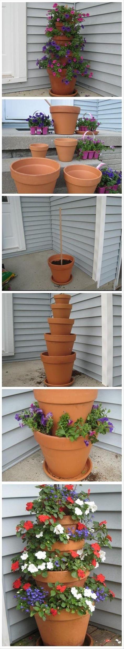 DIY Flower Tower