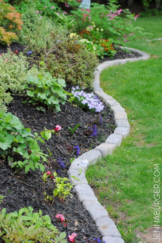 Garden Bed Edging Ideas-Natural Stone Border