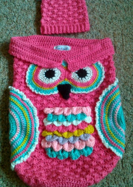 Crochet Chunky Owl Hat Pattern : Crochet Cute Baby Owl Cocoon with Pattern