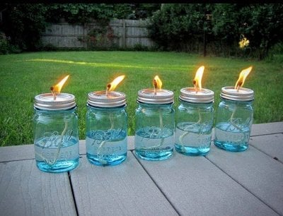 Homemade DIY Mosquito Repellent Lamps