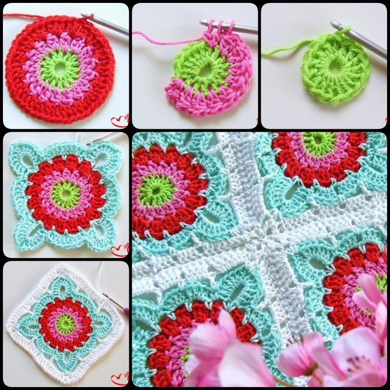 Crocheting Granny Square Blanket : How to Crochet Pretty Granny Square Blanket