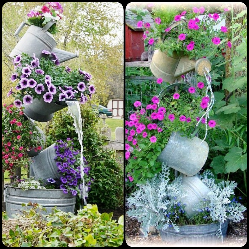 How to make a galvanized garden tipsy pot