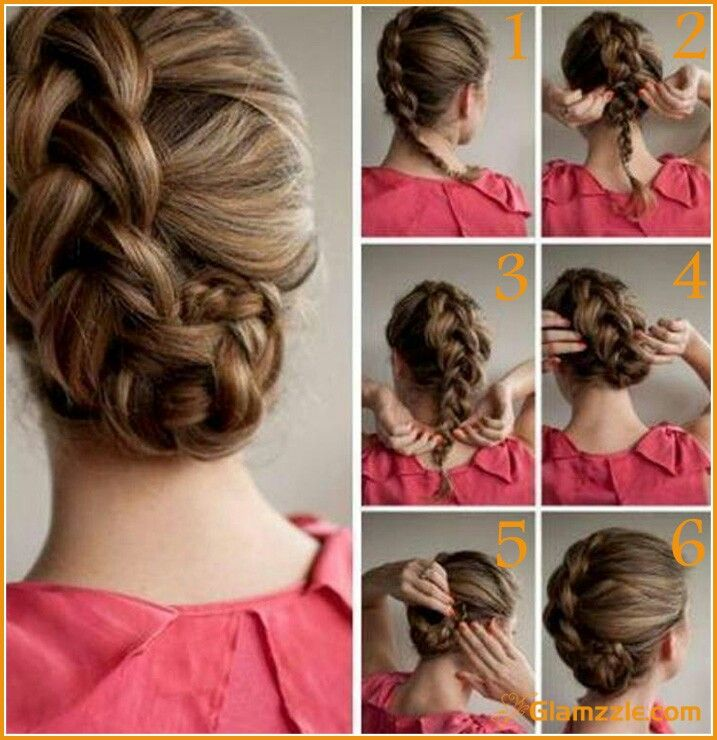 A Collection of 20 + Chic Hairstyles for All Occasions--Inverted Braided Updo hairstyle