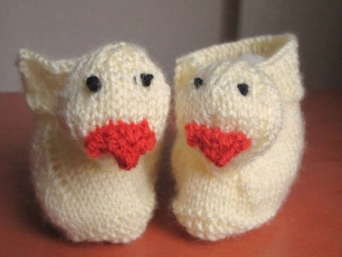 Knitted Duck Booties