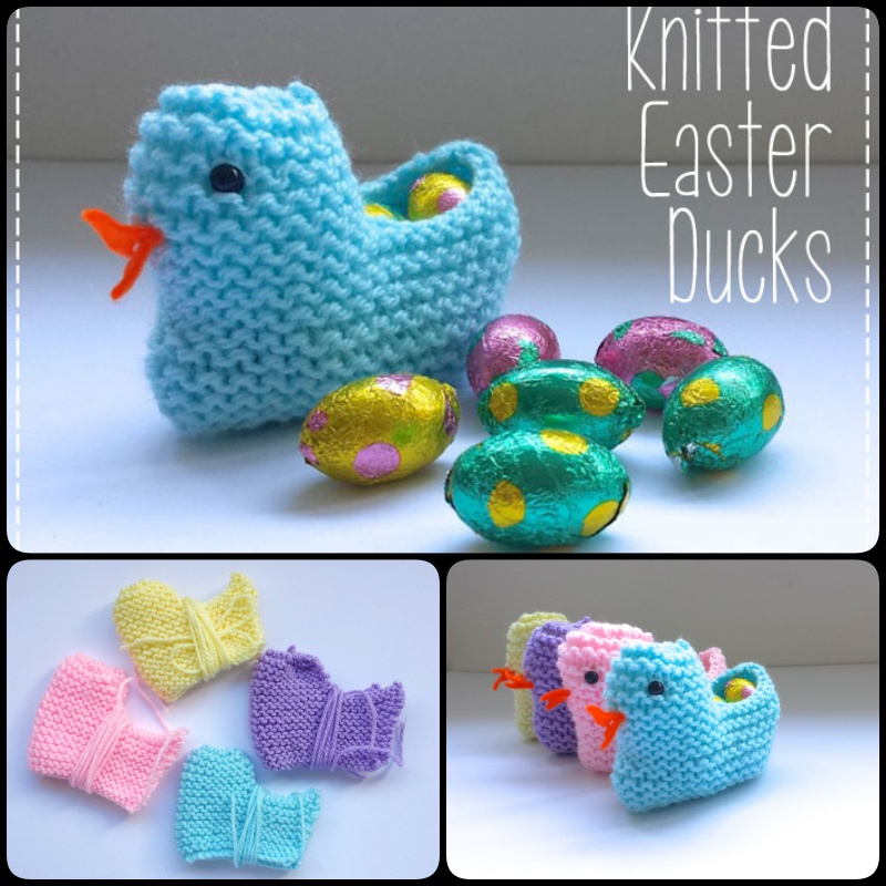 Knitted Easter Ducks with Free Pattern