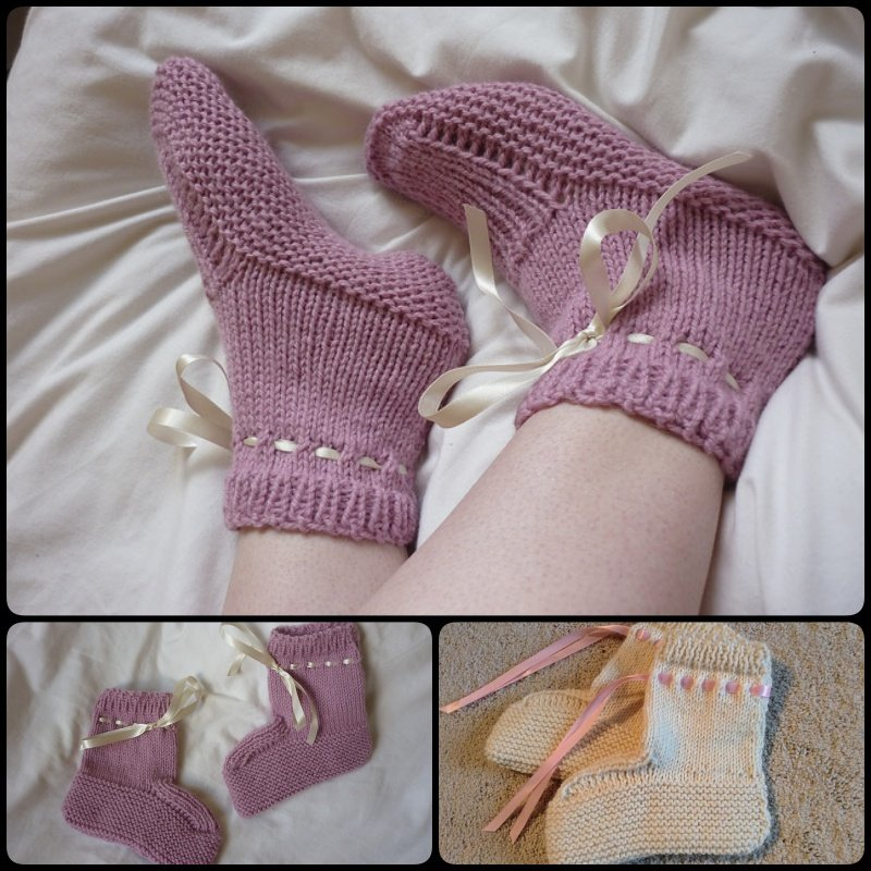 Flat Knitting Patterns : 20+ DIY Slipper Knitting Patterns - Page 2 of 3