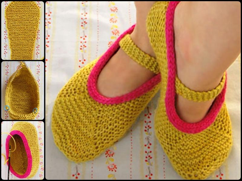 Pinterest Knitting Patterns For Slippers : 20+ DIY Slipper Knitting Patterns