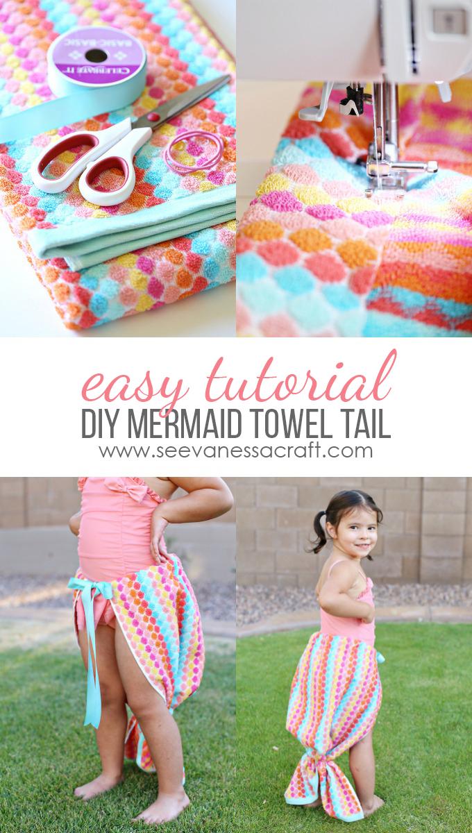 Mermaid Towel Tail Tutorial