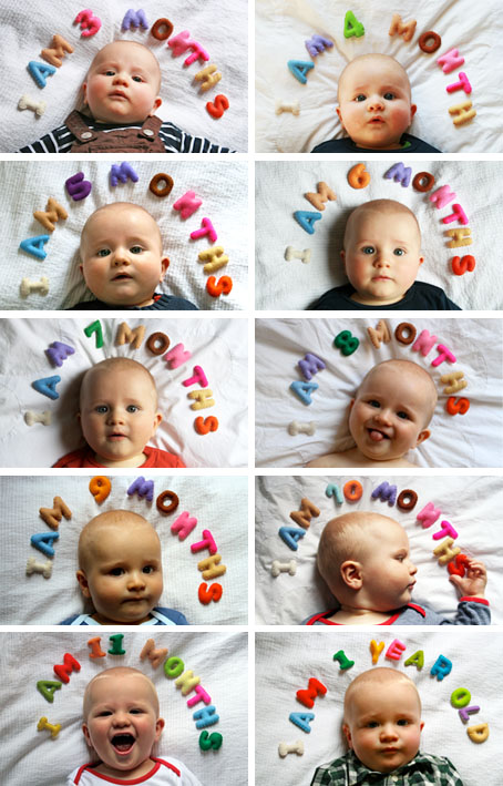Creative Monthly Baby Photo Ideas for Baby's 1ST Year