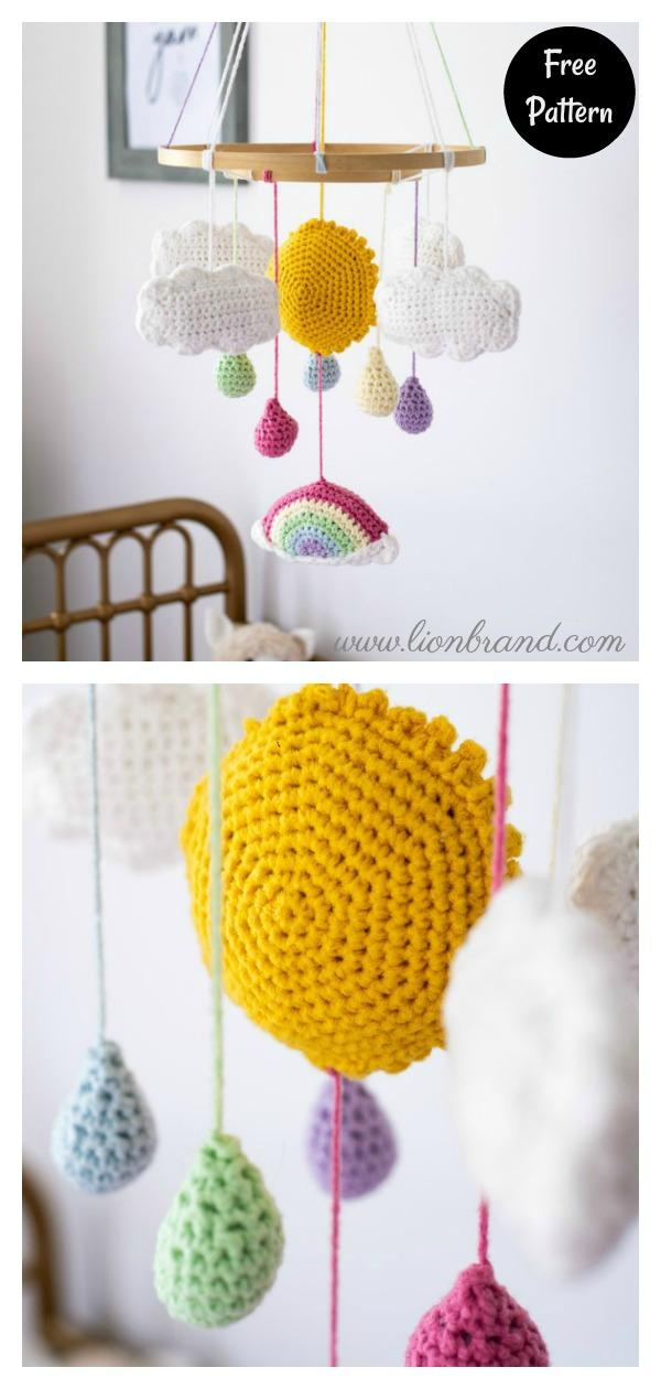 Rainbow Mobile Free Crochet Pattern